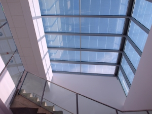 Edificio LUCIA lucernario fotovoltaico